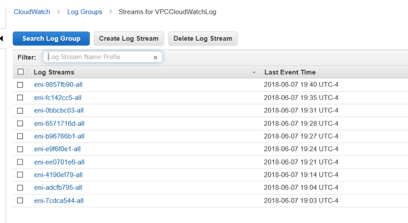 Analyze VPC Flow log using EK -