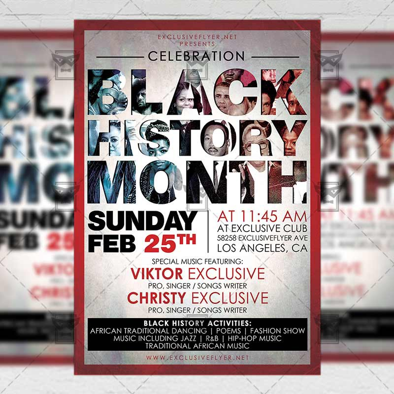 Black History Month Community A5 Flyer Template Exclusive Medium