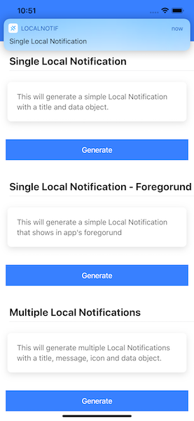 Foreground Local Notification in Ionic 5 app—iOS