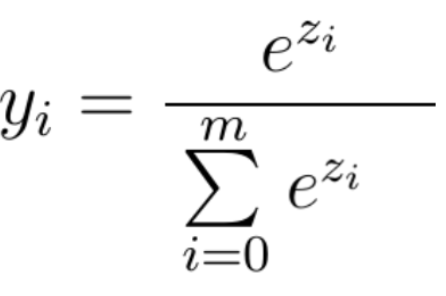 Softmax Equation