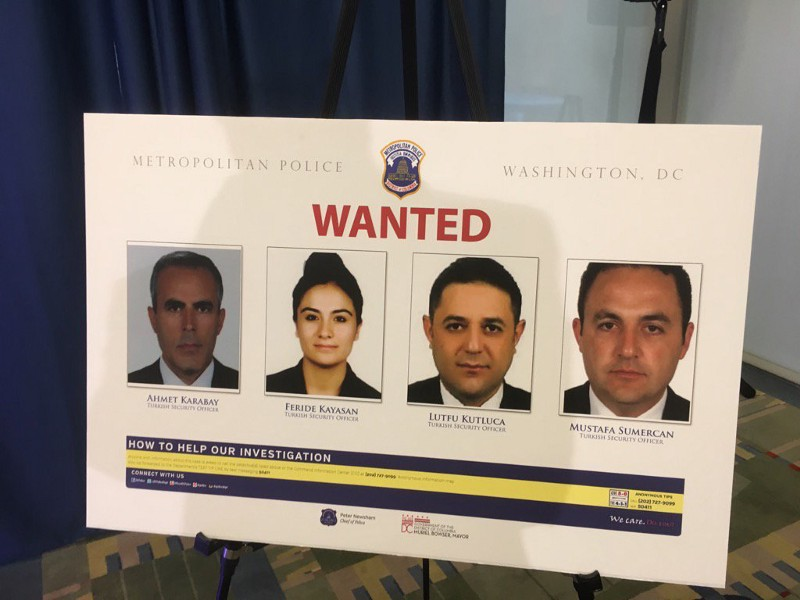 Image result for us issues arrest warrants for turkish security team