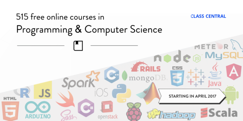 Here are 515 free online programming courses that start this month