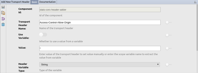 Add New Transport Header properties
