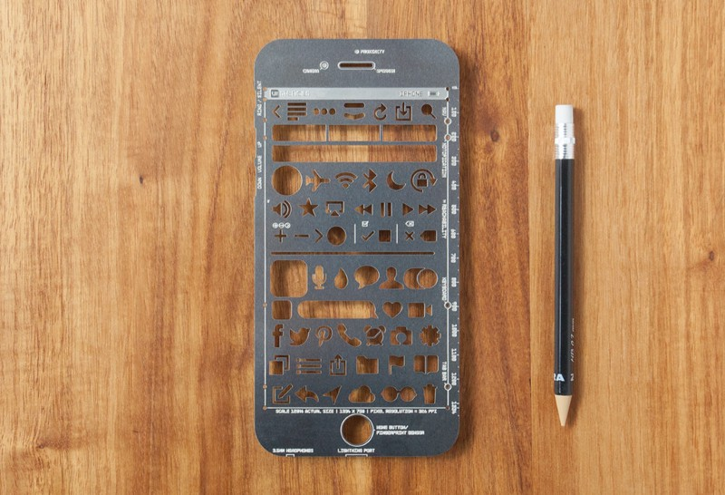 Stenciling wireframe UX