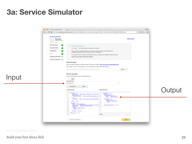 Step 3a: Service Simulator