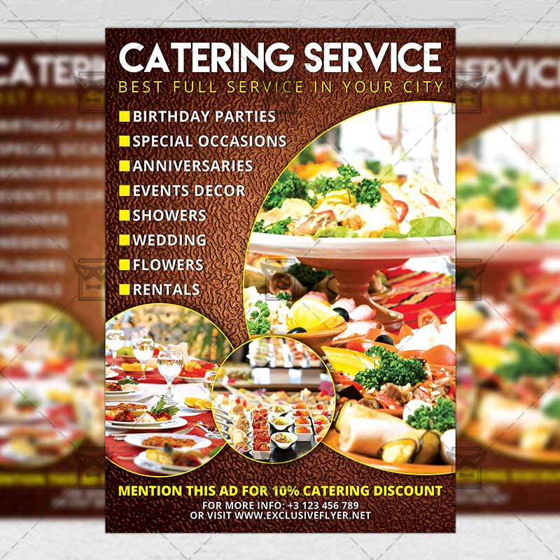Catering Food A5 Flyer Template Exclusive Flyer Medium