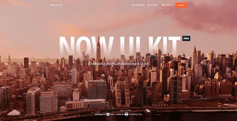 Now UI KIT Background Image with Bootstrap