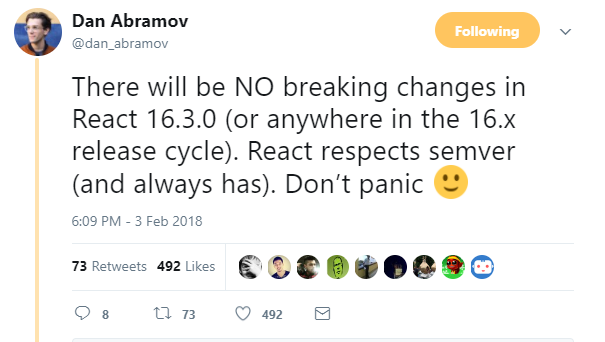React Changes
