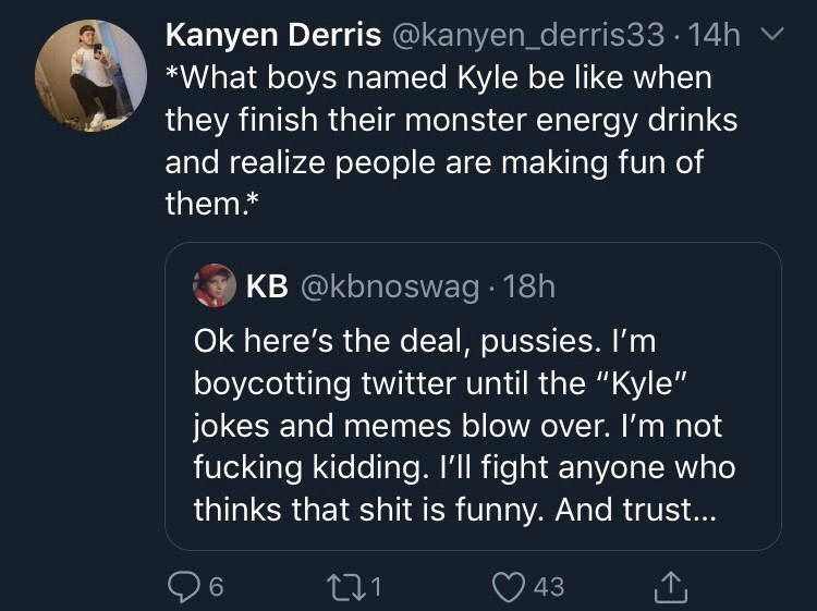 The Cruel And Unjust War On Kyles My Official Statement Barstool