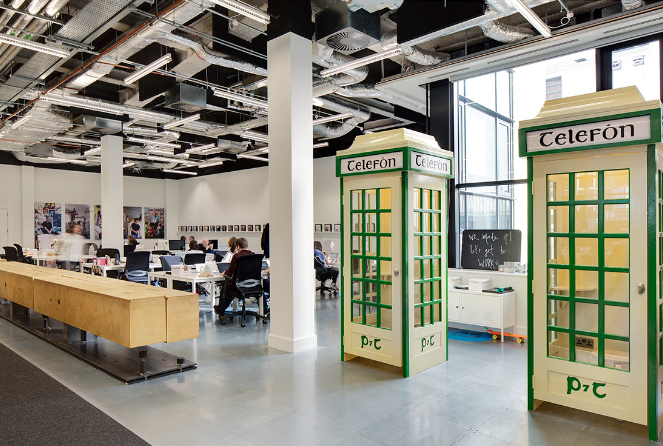 innovative office designs. Eat Next To A Greenmail (left), Take Private Call In The Middle Of An  Open Office (center), Relax And Work Plants (right) Innovative Designs