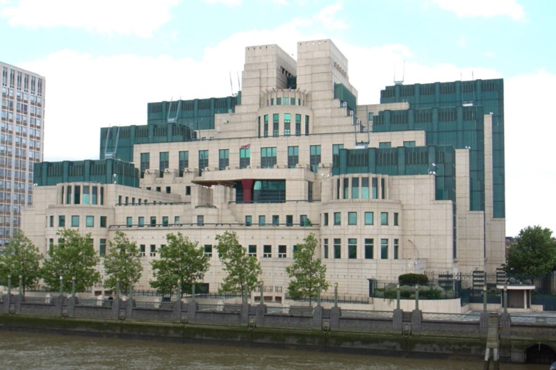 The MI6 building at Vauxhall Cross in London
