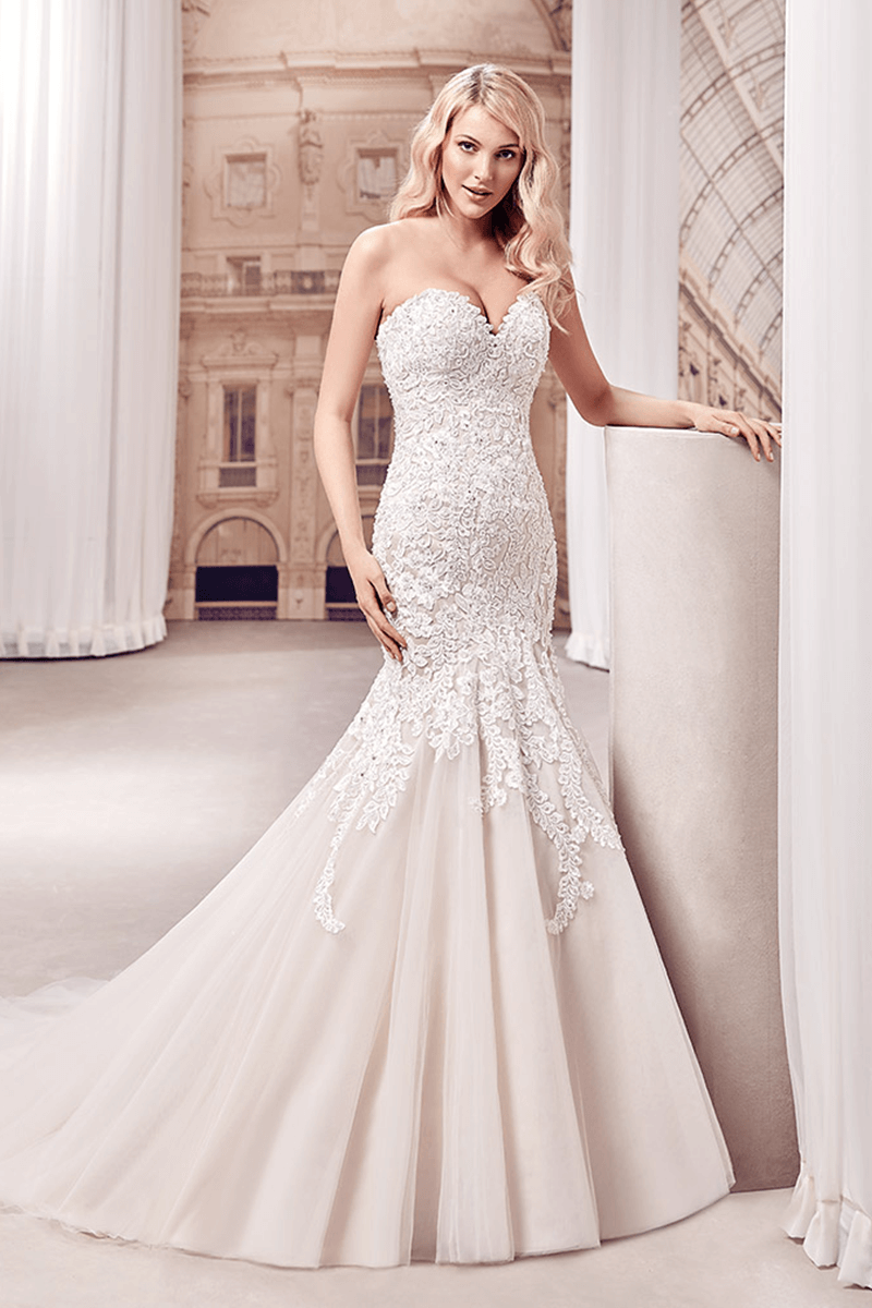 Lace Sweetheart Mermaid Wedding Dresses Bycouturier