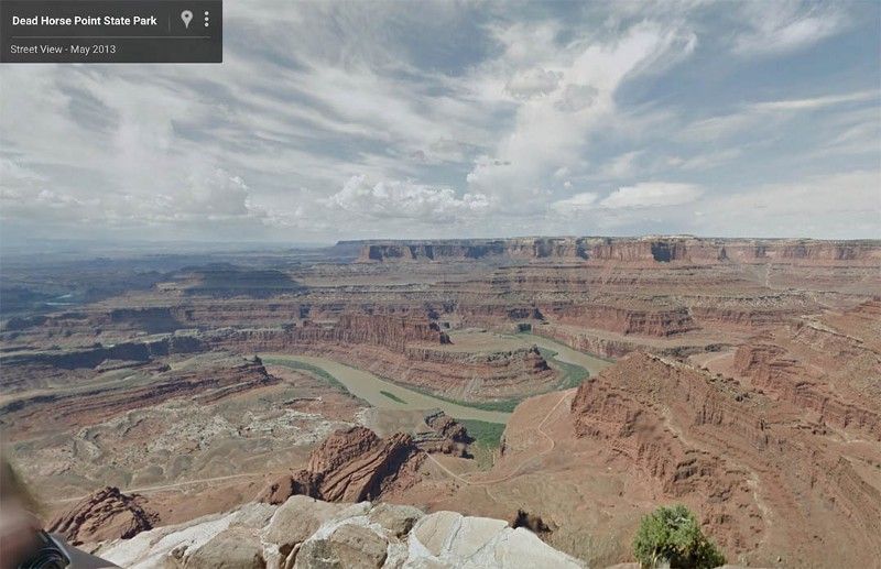 Dead Horse Point Outlook (Screengrab from Google Street View)