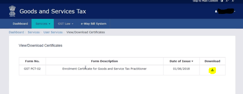 How to download GST Practitioner Certificate?