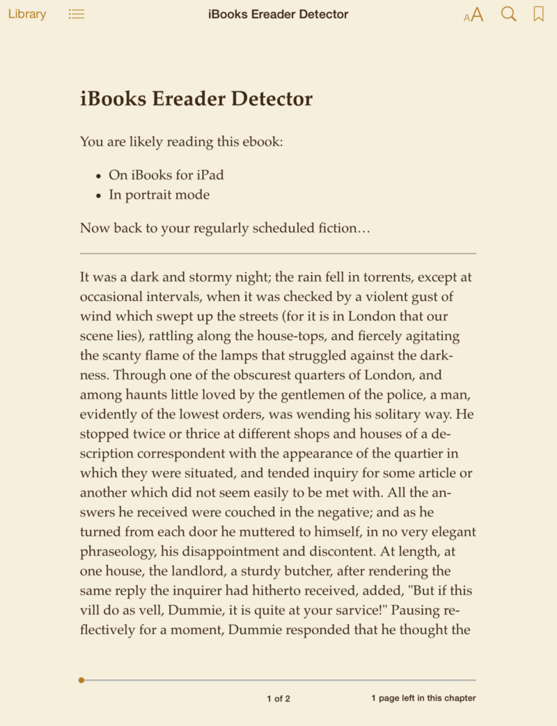 Responsive ebook design a primer sanders kleinfeld medium ibooks ereader detector successfully distinguishes ibooks on iphone 5s in portrait mode top left ibooks on iphone 5s in landscape mode top right fandeluxe Images