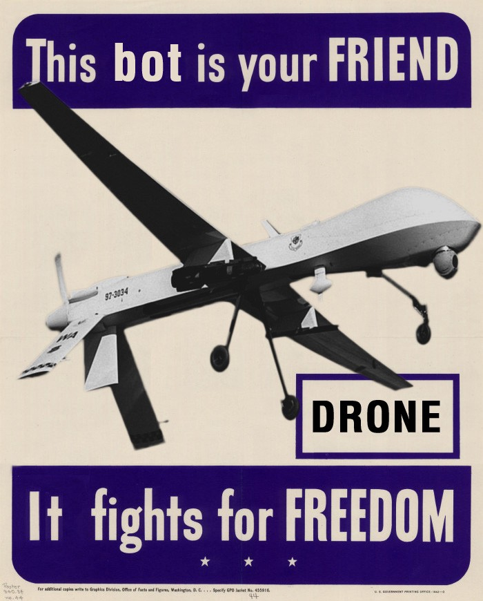 Drones Are Friends Via WeirdTV Blog