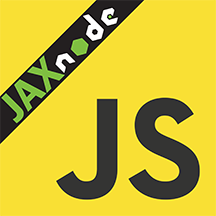 JaxNode Logo based on the JS logo
