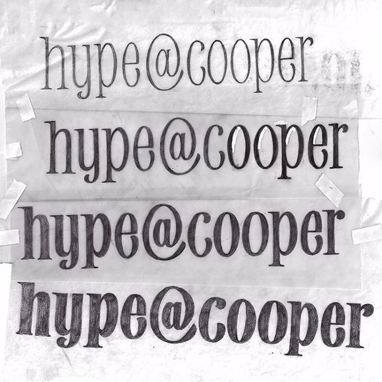 Early Typeface Sketches