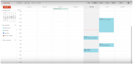 Managing your day on Google Calendar