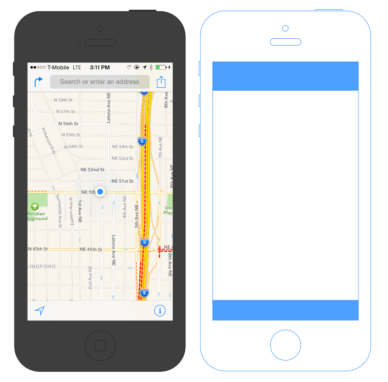 Apple Maps Canvas Layout