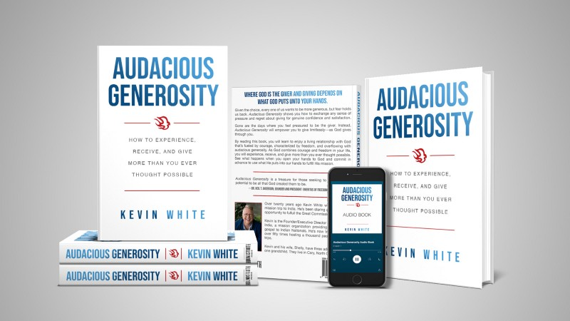 Audacious Generosity by Kevin White releases world-wide on Amazon on November 17, 2020.