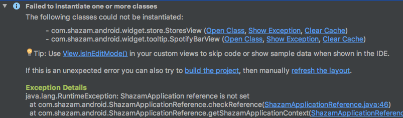 Since The Layout Editor In Android Studio Does Not Create Your Lication Cl