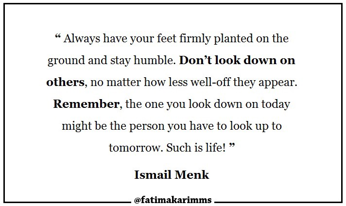 Quotes Dont Look Down On Others Fatima Karim Medium