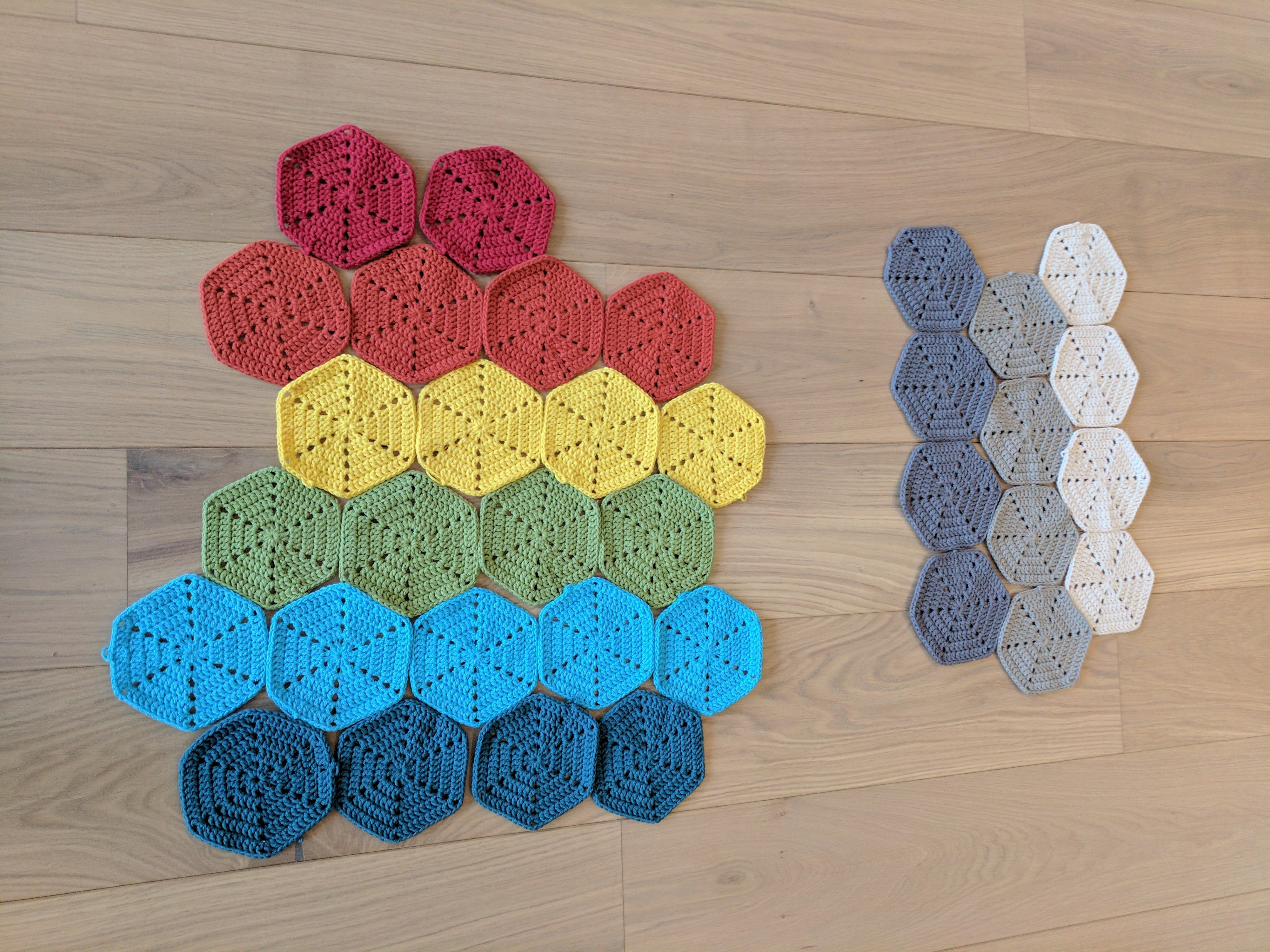Some practice hexagons I made.