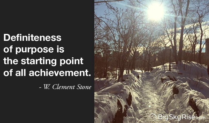 Definiteness of purpose is the starting point of all achievement. — W. Clement Stone