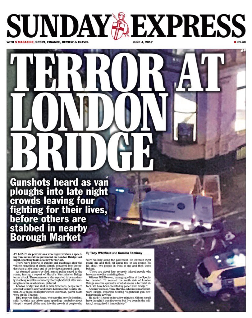 You can always rely on the Express turn terrifying danger into Shovelling  the Shit