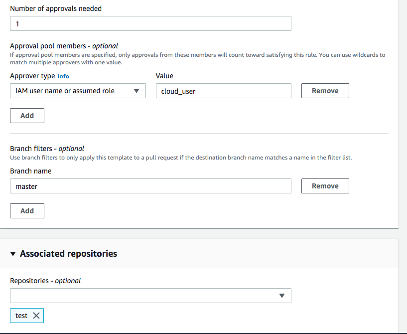 Streamlining Code Merge Process using CodeCommit Approval Rule Template