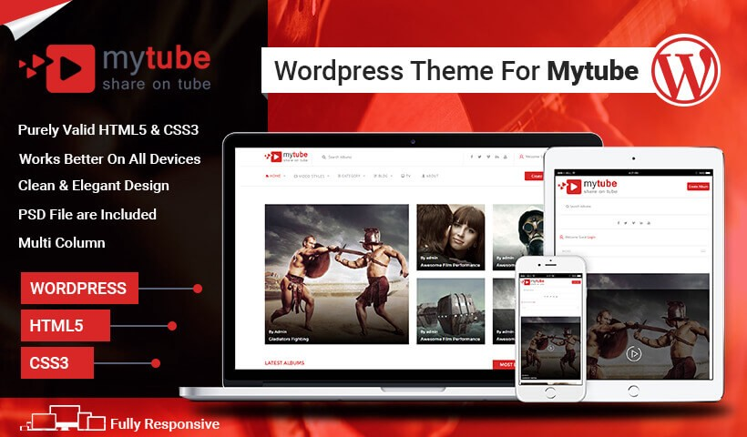 MyTube — Best Youtube Style Video Sharing Responsive WordPress Theme ...
