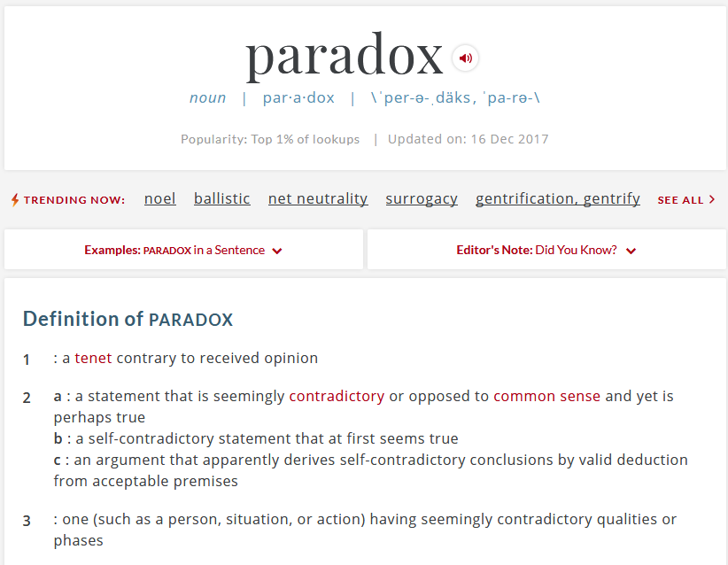 Hi Eve Sorry You Feel Dumber Look Up The Word Paradox