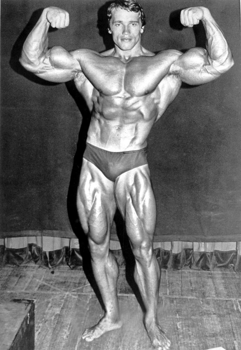 arnold schwarzenegger arnold as mr universe with muscles on his muscles