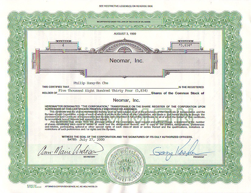 All I Got Was This Lousy Stock Certificate Technicat On Software