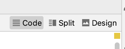 The Layout Editor Split Mode Buttons