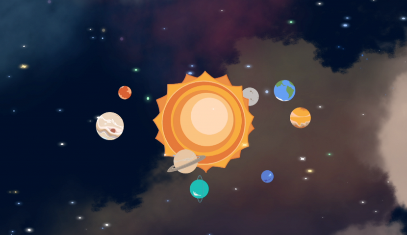 Twinkle Trails - The Solar System