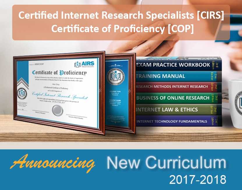 Become A Certified Internet Research Specialist Certifications Airs