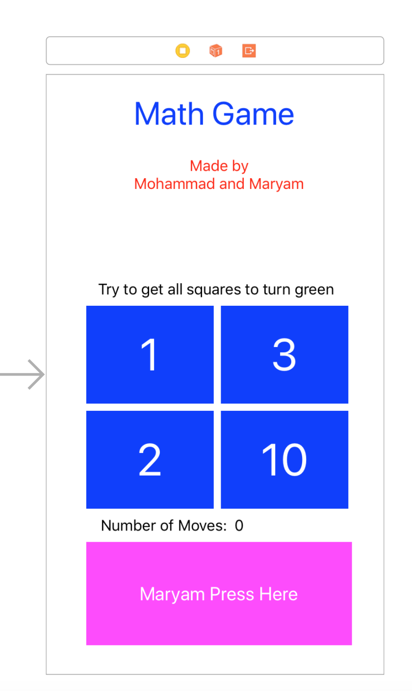 Weekend fun with my kids — math iOS game in 3 hours