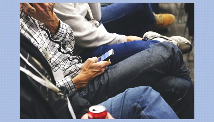 person on smartphone