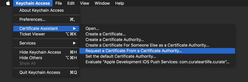 How To Get An Apple Push Notification Service Certificate As A .p12