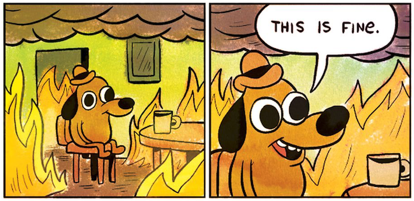 This Is Fine Dog Meme