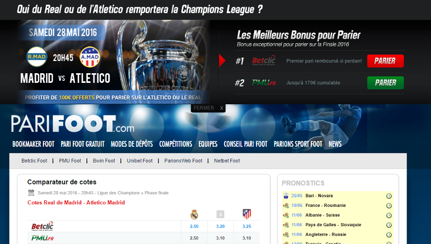 Screenshot of www.parifoot.com