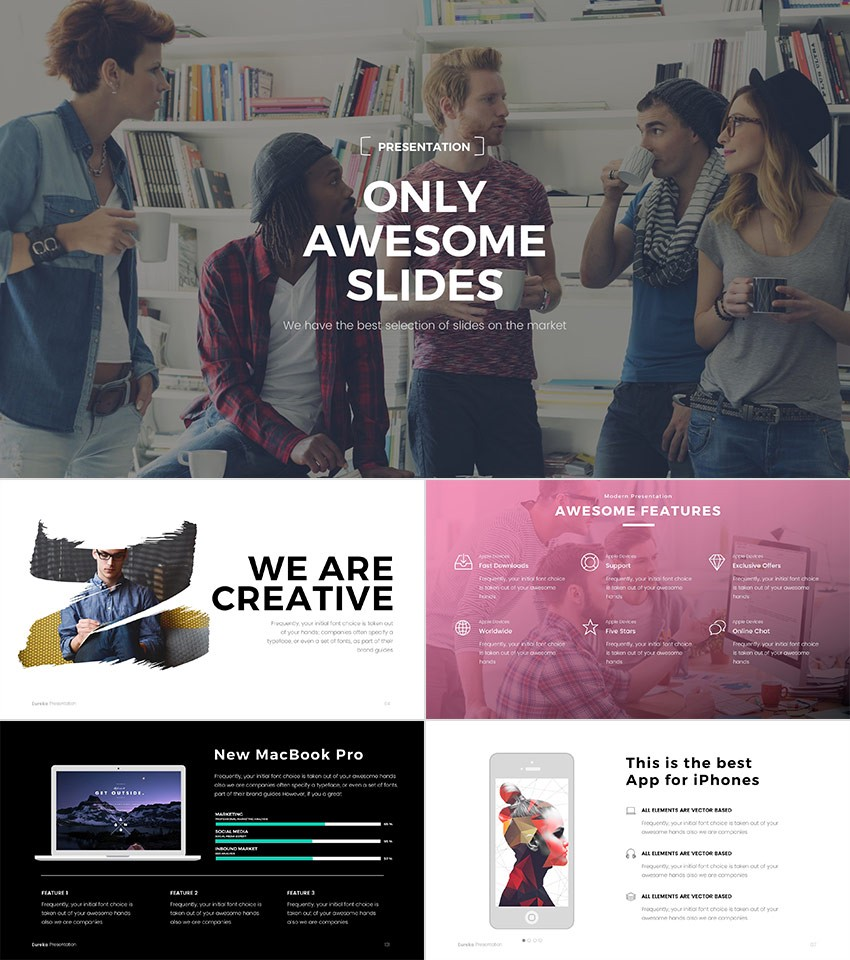 20 best powerpoint templates best digital themes medium eureka is a cool powerpoint template with a modern design creative slides and a minimal sophistication it has an awesome assortment of dazzling styles toneelgroepblik Images