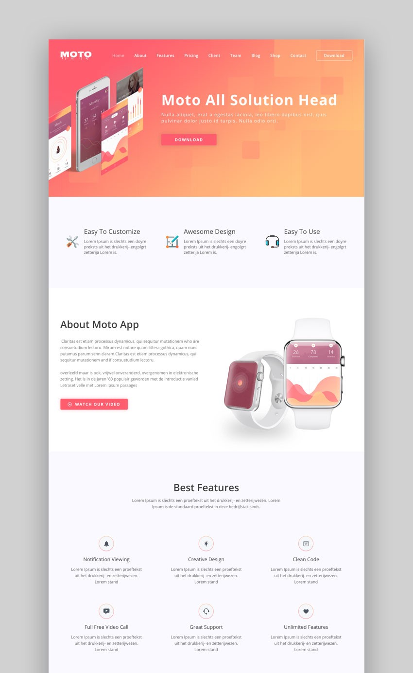 15 best landing page wordpress themes best digital themes medium the moto theme is a responsive and multipurpose landing page template for wordpress it can be used to promote an upcoming launch of your app as well as maxwellsz