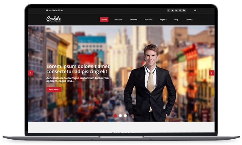 14 free and responsive best business personal portfolio onepage 1 corlate free responsive business html template wajeb Gallery