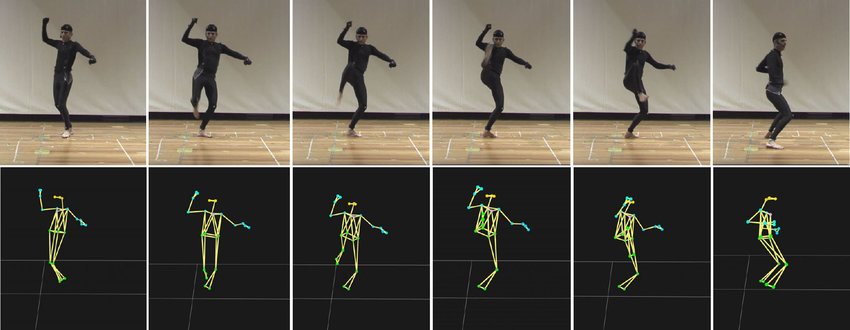 Live mocap data while exercise recording by the trainer.