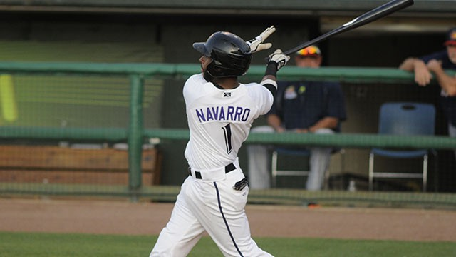 Rey Navarro has done nothing but get on base since May 23. He has reached in 16 straight games as a Bat, 39 in a row overall. ((c) Pat Pfister/pfoto.com)