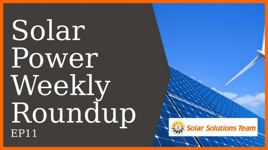 Solar Power Weekly Roundup EP11 :: Tesla Solar Roof Launched, Massive Solar Farm for US, Renewables Top New Energy, Florida Power Struggle, Solar Panels for Alberta Schools