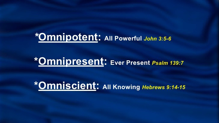 Definition of omnipotent omniscient omnipresent